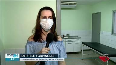 Campanha de vacina acontece em horário estendido em Colatina, ES - Veja a reportagem.