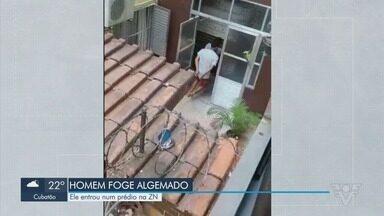 Policiais trocam tiros com suspeitos na Zona Noroeste, em Santos - Um homem foi detido e algemado, mas conseguiu fugir.