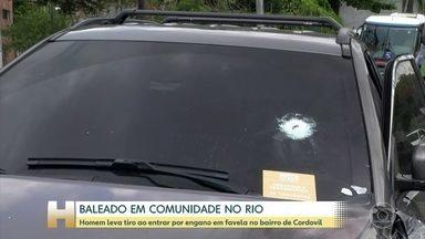 Homem leva tiro ao entrar por engano em favela no bairro de Cordovil, no RJ - O administrador Cristiano Coimbra é gerente de projetos do jornal O Globo. Ele foi baleado na manhã desta quarta-feira, na Zona Norte do Rio, quando pegou um atalho por orientação de um aplicativo.