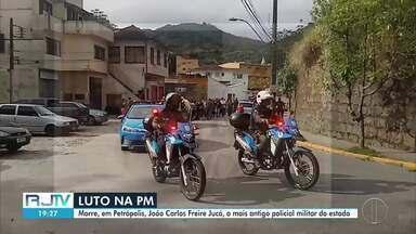 O mais antigo policial militar do estado morre em Petrópolis, no RJ - O coronel João Freire Jucá Sobrinho deixa 5 filhos, 16 netos, 20 bisnetos e a esposa, dona Vanda, de 96 anos.