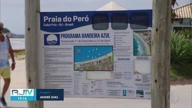 Praia do Peró, em Cabo Frio, conquista selo internacional pela terceira vez - A Bandeira Azul vai ser hasteada em novembro, seguindo protocolos sanitários para evitar aglomeração.