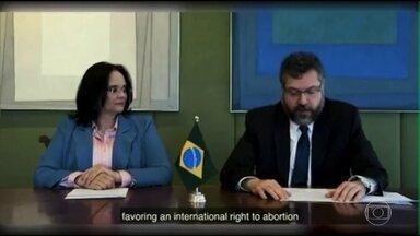 Brasil assina declaração internacional contra o aborto e a favor do papel da família - Os governos do Brasil, dos Estados Unido e de outros quatro países conservadores se opõem às Nações Unidas que, em alguns fóruns, defendem o direito de acesso ao aborto seguro.
