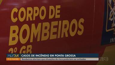 Meio-Dia Paraná dá dicas para evitar princípios de incêndio - Fogo destruiu casa no bairro Olarias.