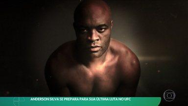 Anderson Silva se prepara para sua última luta no UFC - Anderson Silva se prepara para sua última luta no UFC