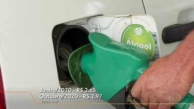 Preço do etanol subiu bastante nos últimos meses - Preço do combustível nas bombas vem subindo desde junho, quando chegou a custar em média R$ 2,65.