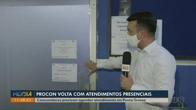 Procon de Ponta Grossa retoma atendimentos presenciais - Consumidores, porém, devem fazer agendamento prévio.