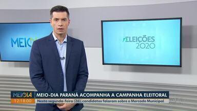 Candidatos à Prefeitura de Ponta Grossa falam sobre o Mercado Municipal nesta segunda (26) - Meio-Dia Paraná acompanha campanha eleitoral dos cinco concorrentes.