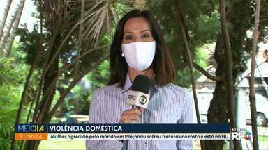 Mulher sofre fraturas no rosto durante agressões do marido - Crime aconteceu em Paiçandu no fim de semana.