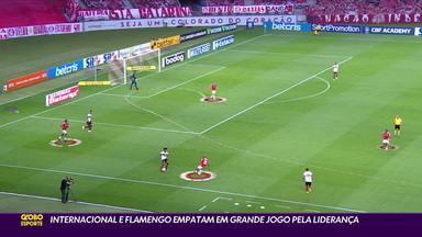 Internacional e Flamengo empatam em grande jogo pela liderança do Brasileirão - Internacional e Flamengo empatam em grande jogo pela liderança do Brasileirão