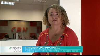 Candidata à Prefeitura de João Pessoa, Rama Dantas, fala sobre propostas em entrevista - Ela que investir R$ 400 milhões em transporte público.