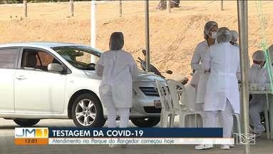 Começa hoje (26) mais uma etapa da testagem de Covid-19 em São Luís - Idosos, gestantes e pessoas com deficiência serão atendidos no Parque do Rangedor, onde foi montada a estrutura para a realização de até 600 testes por dia.
