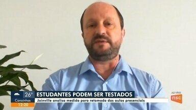 Joinville analisa testagem em estudantes para retomada das aulas presenciais - Joinville analisa testagem em estudantes para retomada das aulas presenciais