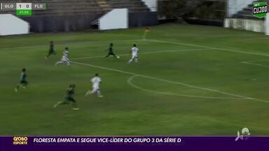Floresta empata e segue vice-líder do Grupo 3 da Série D do Campeonato Brasileiro - Floresta empata e segue vice-líder do Grupo 3 da Série D do Campeonato Brasileiro