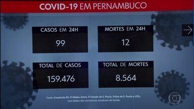 Pernambuco registra mais 99 casos de coronavírus e 12 mortes - Dados foram confirmados nesta segunda (26) pelo governo