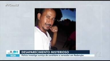 Polícia Civil investiga desaparecimento de candidato à vereador em Redenção, no Pará - Polícia Civil investiga desaparecimento de candidato à vereador em Redenção, no Pará
