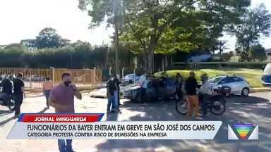 Funcionários da Bayer fazem greve em São José dos Campos - Confira a reportagem exibida pelo Jornal Vanguarda.