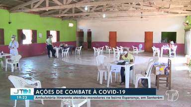 Ambulatório itinerante atende moradores do bairro Esperança, em Santarém - Foram ofertadas consultas médicas e acompanhamento para pacientes com a suspeita da Covid-19.