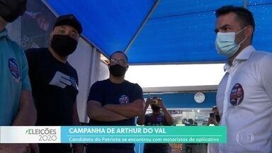 Arthur Do Val se encontrou com motoristas de aplicativo - Candidato do Patriota disse que vai acabar com o rodízio de veículos na capital.