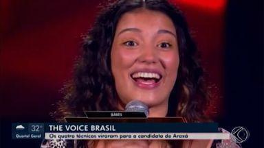The Voice Brasil: candidata Ana Carvalho deu um show e representa a cidade de Araxá - Na seletiva realizada nesta terça-feira (27), os quatro técnicos viraram a cadeira para a cantora. Ele se classificou para a próxima fase do programa e, nesta quarta-feira (28), concedeu uma entrevista à TV Integração.