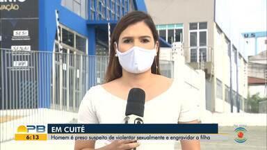 Homem é preso acusado de estuprar e engravidar filha, em Cuité - Vítima tem 13 anos de idade e fugiu para Minas Gerais