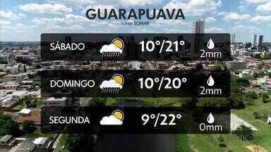 Próximos dias serão de chuva na região de Curitiba - Já em Guarapuava a temperatura fica entre 9° e 22° na segunda-feira(02)