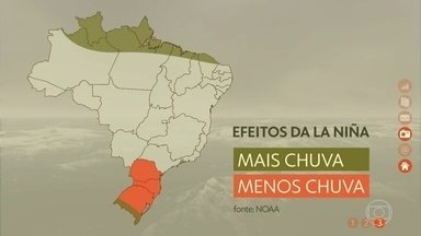 Clima Brasileiro deve sentir os efeitos do fenômeno La Niña - Segundo meteorologistas, as águas do oceano Pacífico são resfriadas durante o período, trazendo irregularidades na chuva durante a primavera e começo do verão.