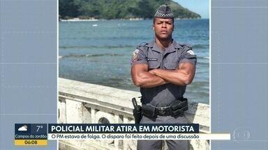 Policial Militar de folga atira em motorista de aplicativo em Campinas - O disparo foi feito depois de uma discussão entre a namorada do PM e o condutor do veículo sobre a forma de pagamento da corrida.
