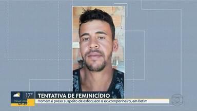 Suspeito de esfaquear ex-companheira foi preso em Betim no domingo (01) - A mulher recebeu seis facadas no sábado