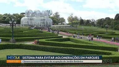 Câmera controla público no Jardim Botânico para evitar aglomerações - Quando a capacidade é atingida, portões são fechados.