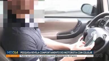 Pesquisa de universidade revela o comportamento do motorista com o celular - Voluntários usaram o aparelho enquanto dirigiam