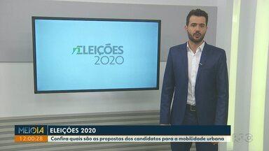 Confira quais são as propostas dos candidatos para a mobilidade urbana em Foz do Iguaçu - Cinco candidatos responderam a pergunta nesta segunda-feira (02).