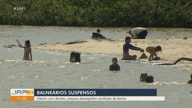 Mesmo com decretos, público movimenta rios e balneários de Macapá - Locais estavam proibidos para presença de pessoas em funções dos decretos de distanciamento contra a Covid-19.