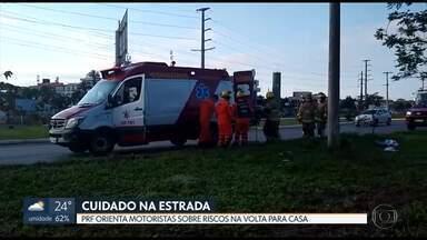 PRF pede cuidado nas estradas - Teve acidente no fim de semana. Cinco pessoas ficaram feridas em uma batida na DF-280.