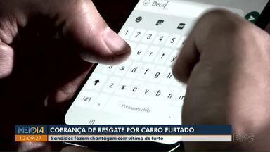 Bandidos fazem chantagem com vítima que teve o carro furtado - Orientação da polícia é não divulgar o número de celular nas redes sociais.