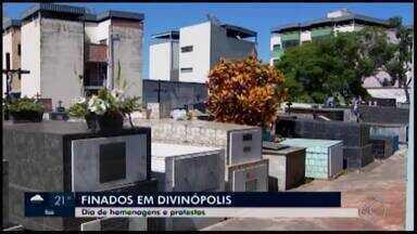 Dia de Finados é celebrado em cemitérios de Divinópolis - Reportagem do MG1 mostra como foram as celebrações no município. Data serve de reflexão; psicólogo fala sobre a superação do luto.