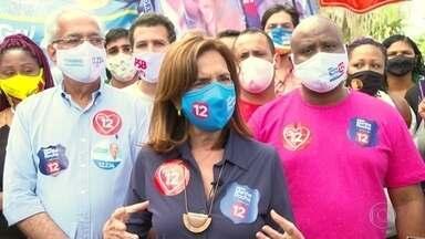 Martha Rocha (PDT) faz campanha no aterro do Flamengo - Martha Rocha (PDT) faz campanha no aterro do Flamengo.