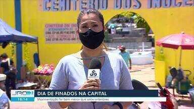 Dia de Finados: Movimentação nos cemitérios é menor em Porto Velho que nos anos anteriores - Muitas pessoas anteciparam as homenagens para evitar aglomerações