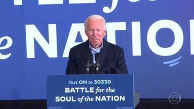 Biden tem agenda menos intensa que Trump, mas também focada em estados decisivos - O alvo final de Joe Biden são as urnas da Pensilvânia. No fim de semana, foram dois comícios na Filadélfia.