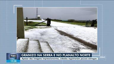 Granizo atinge municípios catarinenses - Granizo atinge municípios catarinenses