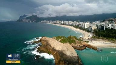 Previsão é de chuva para o Rio de Janeiro nesta quinta-feira (5) - A temperatura máxima prevista é de 27ºC.