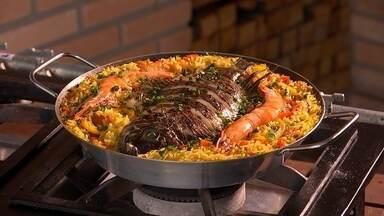 Receita Nosso Campo: aprenda a fazer paella - Neste domingo (8), o Nosso Campo viaja até Porto Feliz (SP) para trazer uma receita de paella, prato originário da Espanha.