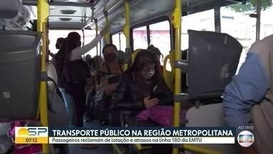 Passageiros reclamam de atrasos em linha da EMTU que sai de Osasco - Linha 180 vem até a Lapa, na zona oeste da capital.