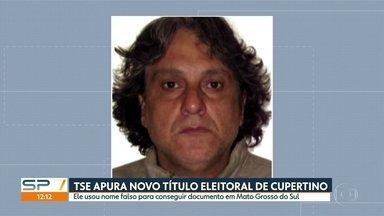 TSE investiga como Paulo Cupertino conseguiu tirar novo título de eleitor - Documento foi emitido em Mato Grosso do Sul, cinco dias depois de ele matar o ator Rafael Miguel e os pais dele em São Paulo.