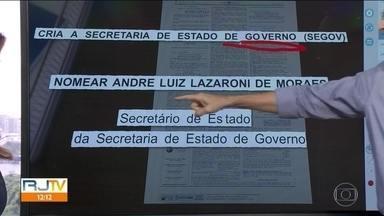 Governador Cláudio Castro recria secretaria para abrigar André Lazaroni - Ex-deputado foi nomeado secretário estadual de Governo.