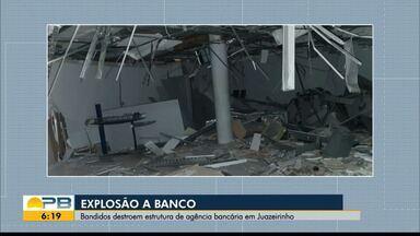Grupo explode agência bancária em Juazeirinho, Agreste do estado - Eles fugiram no sentido do Sertão