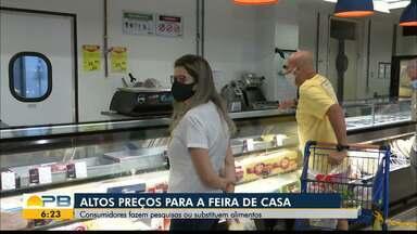 Consumidores precisam pesquisar preços nos supermercados na hora de fazer a feira - Produtos estão cada vez mais caros nas prateleiras