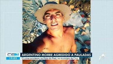 Argentino é morto a pauladas na Praia do Preá, em Cruz - Saiba mais no g1.com.br/ce