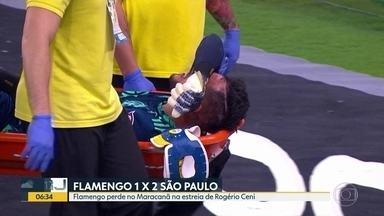 Fla perde pro São Paulo na estreia de Rogério Ceni - Jogo foi pela Copa do Brasil.