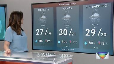 Confira a previsão do tempo para esta quinta-feira na região - Veja como ficam as temperaturas.
