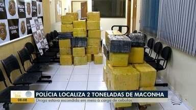 Polícia Militar apreende 2 toneladas de maconha em Alfredo Marcondes - Droga estava em meio a uma carga de cebolas.